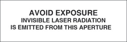 "Laser Aperture Label 1/2"" x 1 3/4""..""Invisible Laser Radiation"""