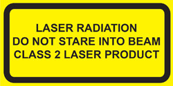 "IEC Explanatory Label  for Class 2 lasers  (2""w x 1""h)"