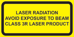 Class 3R Explanatory Label for <400nm and >1400nm lasers  (2&quot;w x 1&quot;h)