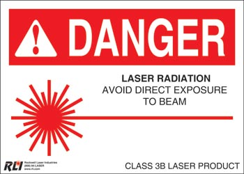 Paper Class 3B Sign-Laser Radiation