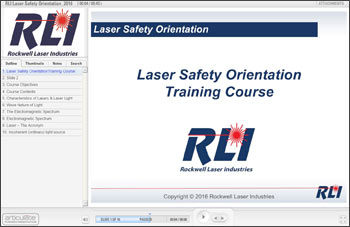Laser Safety Orientation