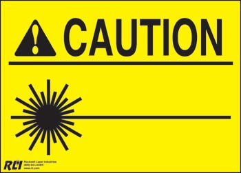 PVC Blank Caution Laser Sign