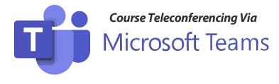 Teleconferencing Via Microsoft Teams