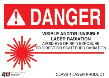 Paper Class 4 Danger Sign-Visible and/or Invisible