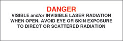 "Class IV Non-Interlocking Protective Housing Label (Visible and/or Invisible Laser Radiation) 1"" x 3"""