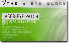 Theia Laser Eye Block (box of 24 pair) - Eye Shields for Laser Protection