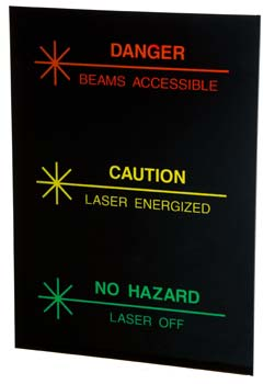 Plastic sign for face of Tri-Lume lighted sign
