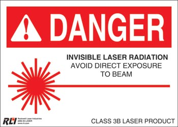 PVC Class 3B Danger Sign-Invisible Laser Radiation