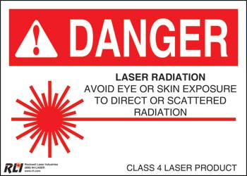 Paper Class 4 Danger Sign- Laser Radiation