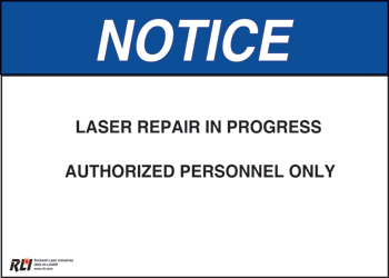 Plastic Laser Repair Sign