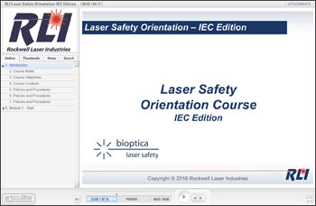 Laser Safety Orientation, IEC Edition