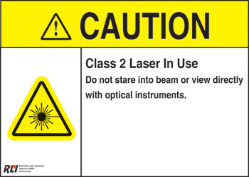 PVC Class 2 Caution Sign