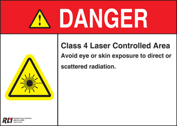 Magnetic Class 4 Danger Sign-Controlled Area