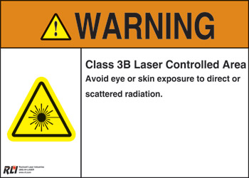 PVC Class 3B Laser Warning Sign